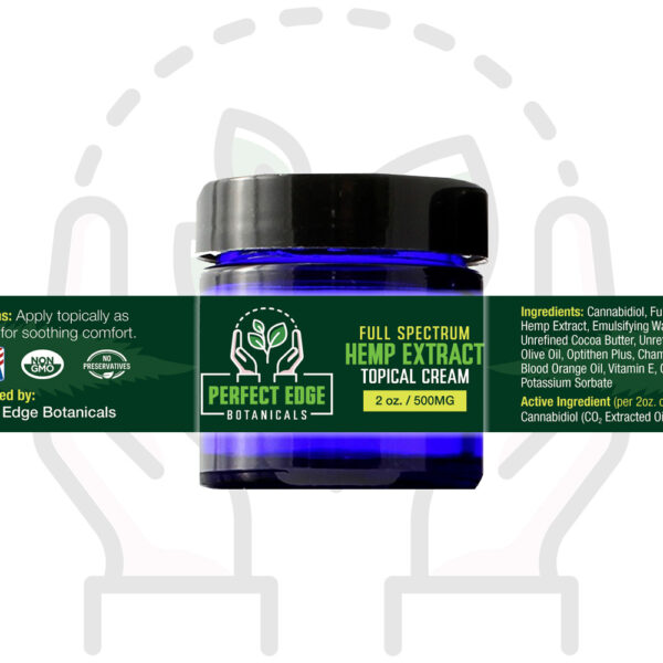 500mg Hemp Extract Topical Cream (2oz.)