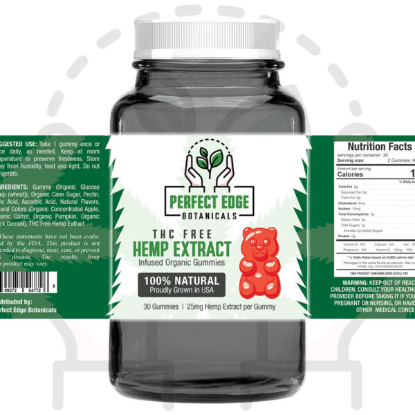 750mg THC Free Hemp Extract Gummies (25mg EACH)