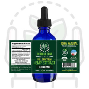 3000mg Hemp Extract Tincture (30mL)